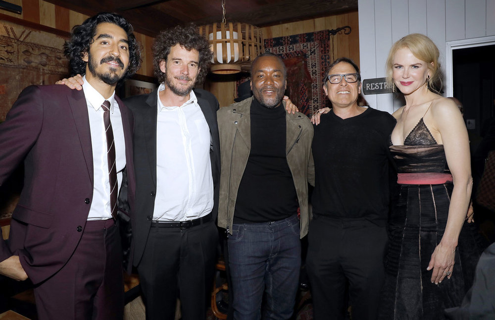 David O.Russell with Actor Dev Patel, Director Garth Davis, host Lee Daniels and actress Nicole Kidman
