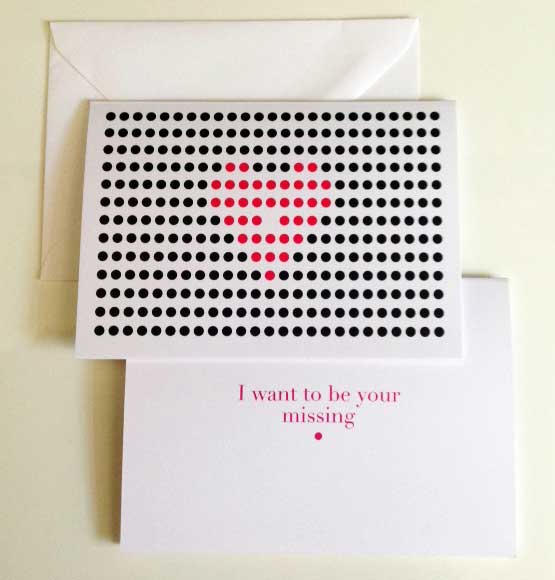 Missing Dot valentines 2016        * available for purchase on Etsy  https://www.etsy.com/shop/SODESIGNSHOP