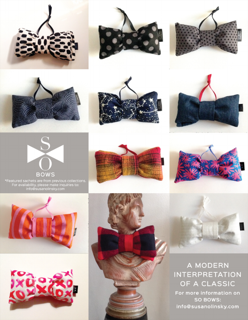 SO BOWs • Aromatherapy Sachets for your home and general well being.