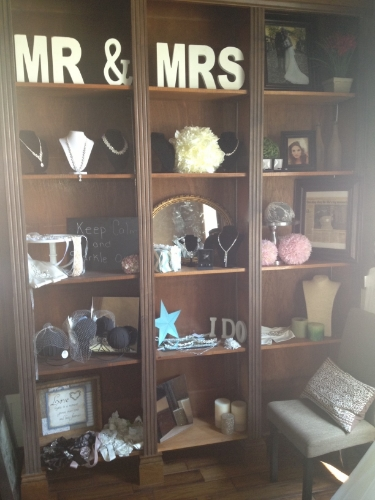 Built in bookshelves in our accessory suite will help put the finishing touches on our brides.  Something for everyone in this suite.