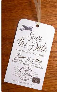 There are so many fun + unique ideas for destination save the dates!