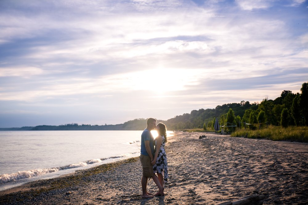 Eric & Kayla's engagement pictures from Port Stanley.