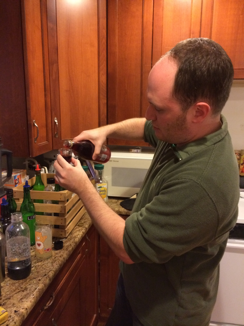 Resident mixologist Dan O'Hanlon mixing cocktails