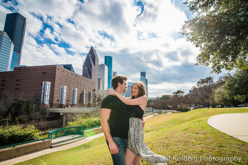Houston Engagement Photographer, Buffalo Bayou Engagement Session, Downtown Houston, Houston Wedding Photographer