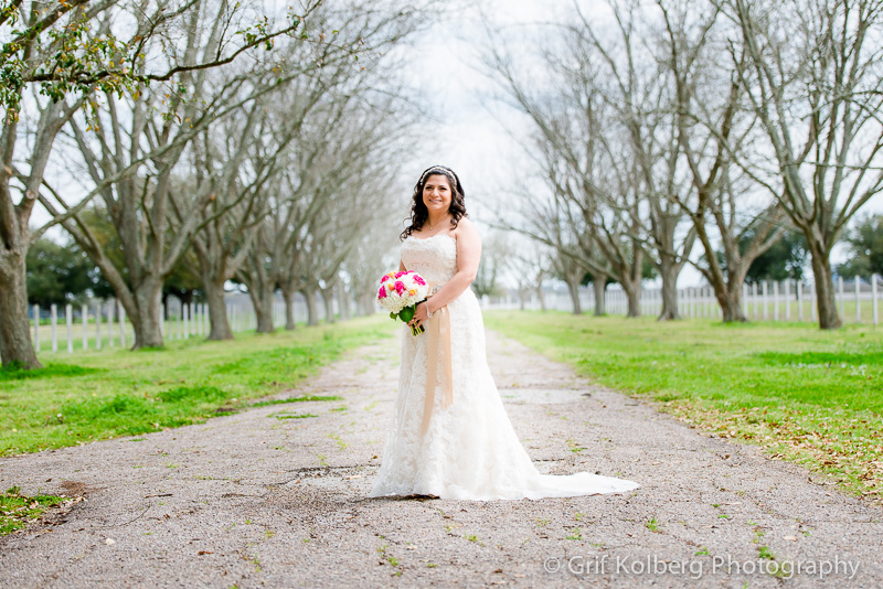 Bridal Portrait, Wedding at George Ranch Historical Park, Richmond, TX