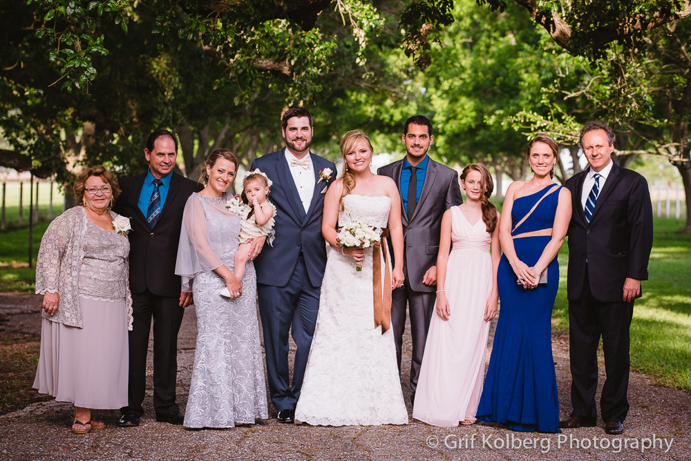Beautiful Family Portrait at the George Ranch Historical Park Wedding.