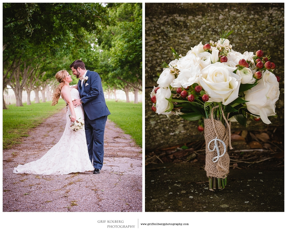 Wedding Portrait with bouquet at George Ranch Historical Park