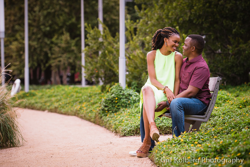 Downtown Houston Engagement Session - Houston Wedding Photographer