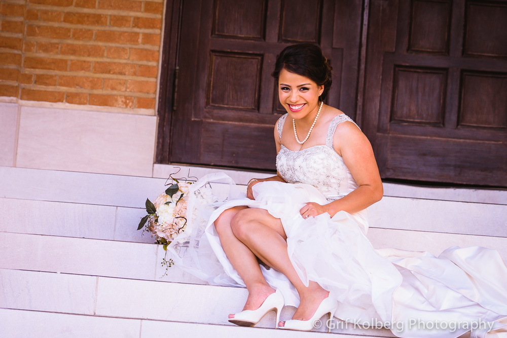 Rice University Wedding Portrait Session