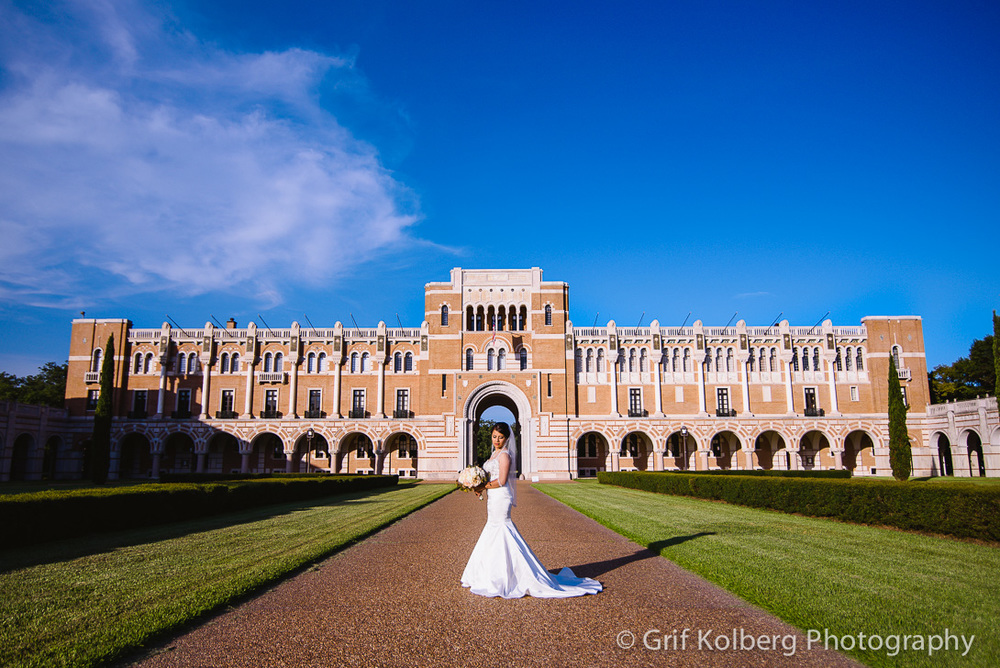 Wedding at Rice University, Houston TX
