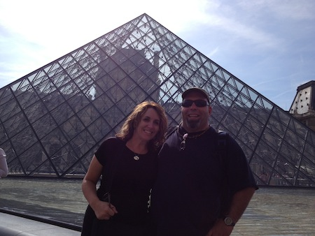 Fletch and Kenj at the Louvre