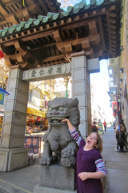 Goofing off at the Chinatown Gate
