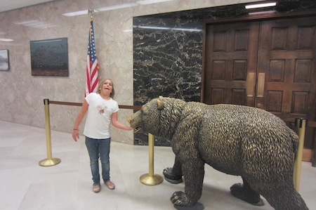 Having fun at the governor's office, California State Capitol