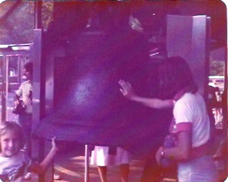 That's little me on the left, touching the Liberty Bell back in 1976.