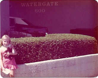 Watergate, 1976, long before I knew its significance.