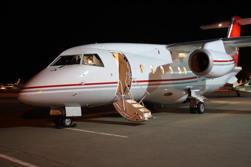 Enjoy a luxurious flight on a 30 passenger jet from Centennial Airport.