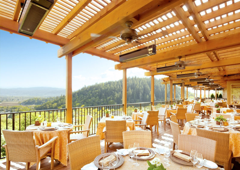 Enjoy a patio lunch at the incredible Auberge du Soleil. Photo Credit to Auberge du Soleil.