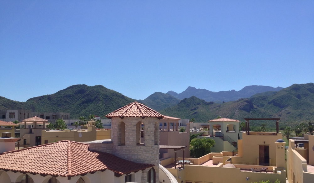 Loreto Bay Villas with the Sierra de la Giganta mountains in the background