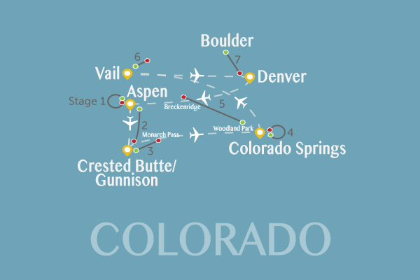 Fly The USA Pro Challenge Route Map