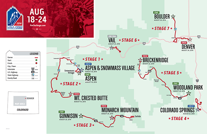 2014 USA Pro Challenge Route