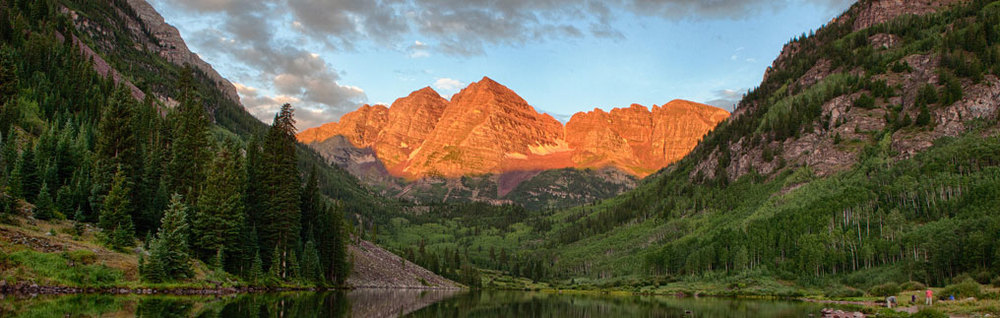 Now that's a view. Take a bike ride up to the Maroon Bells this August. Photo by Aspen Chamber.