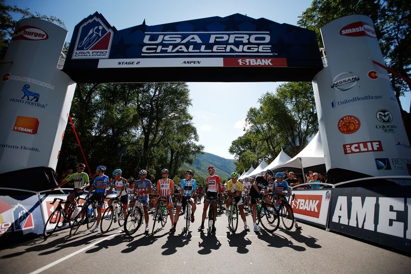 Witness the USA Pro Challenge in Aspen/Snowmass from the luxury of VIP tents. Photo by Chris Graythen, Getty Images.
