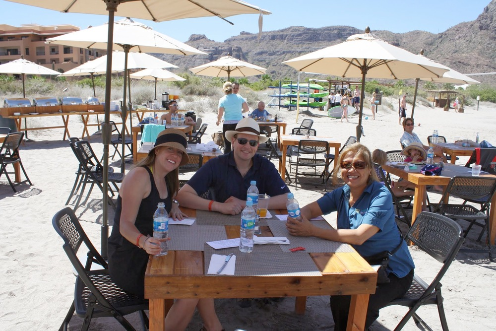 Brunch on the beach at Villa del Palmar.