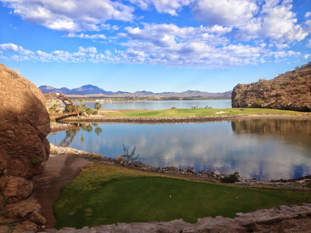 Golfing at the Loreto Baja Golf Resort.
