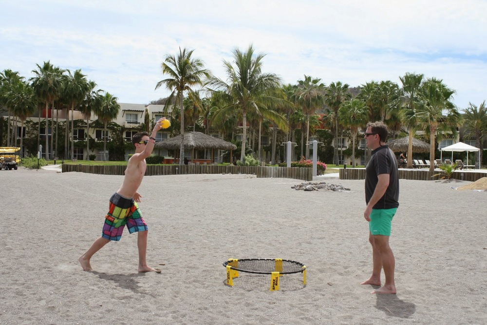 Wouldn't be spring break without some Spike Ball.