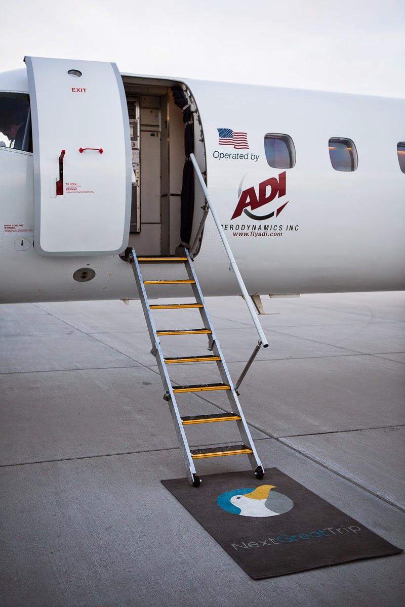 NextGreatTrip 50 passenger chartered jet via ADI.