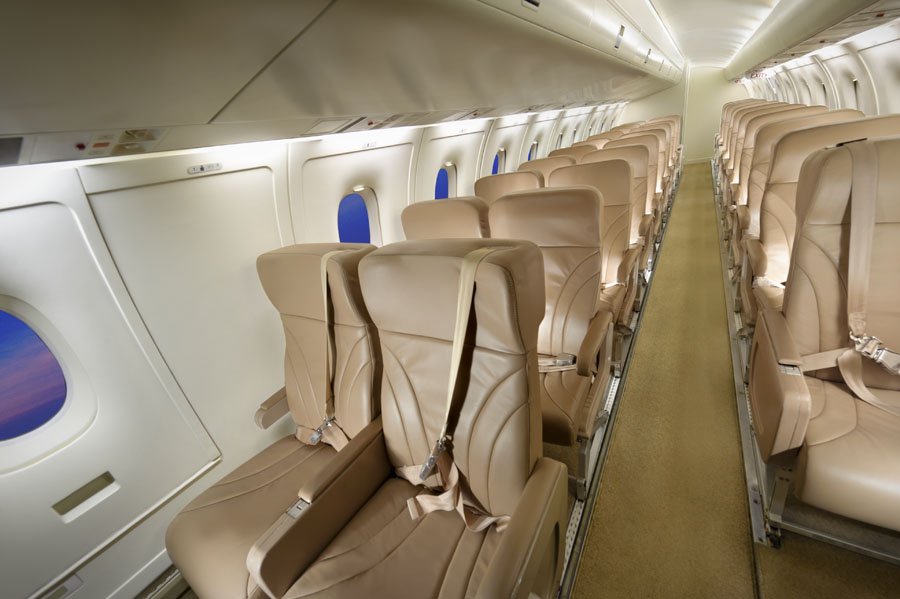 NextGreatTrip typically uses 30-50 passenger regional jets with spacious seating and first-class service.