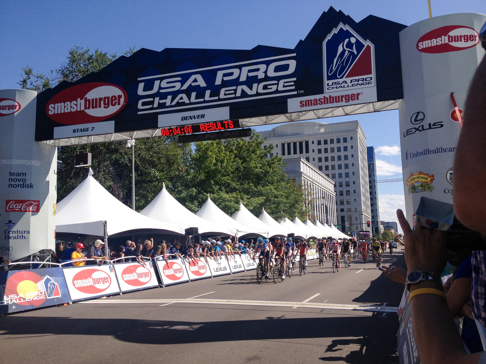 USA Pro Challenge finish in Denver near the NextGreatTrip headquarters!