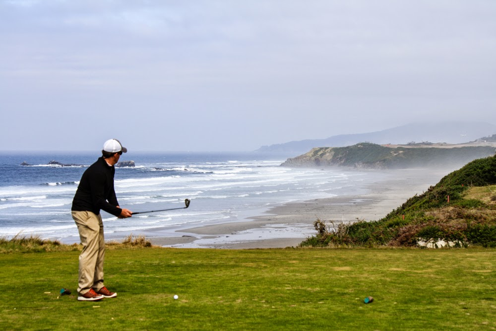 Bandon's courses are true links courses with natural bunkers, blustery winds and crashing waves, modeled after Scotland's greatest.  Pictured here is Pacific Dunes, the top rated public course in the country.