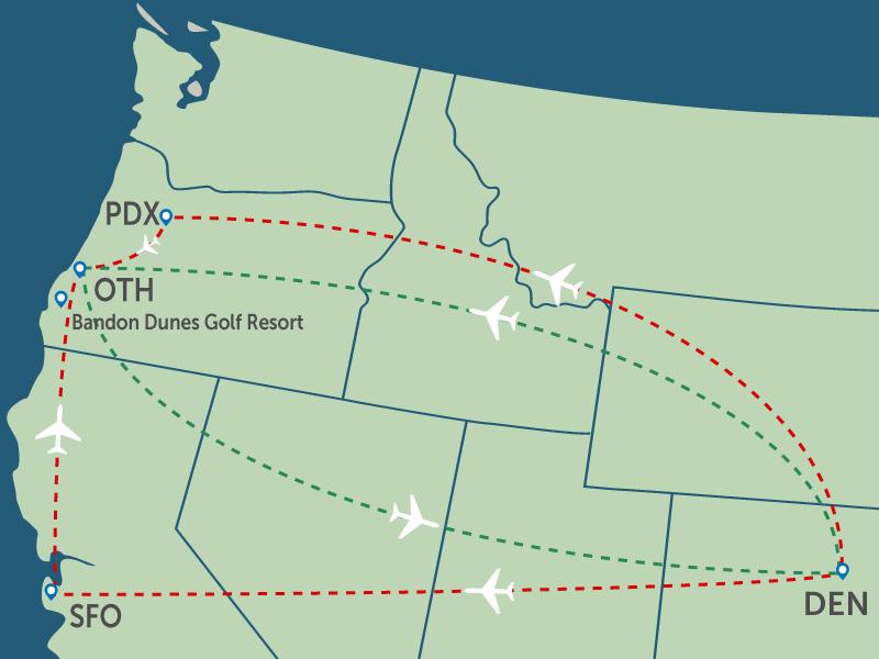 Denver to Bandon Dunes