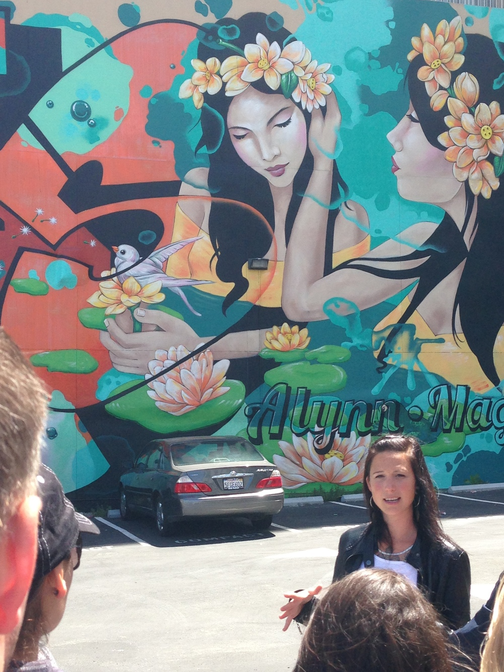 Graffiti artist Amanda Lynn talking about her commissioned work in SOMA