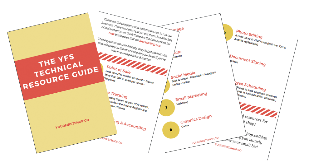 Technical resource guide for small businesses #yourfirstshop