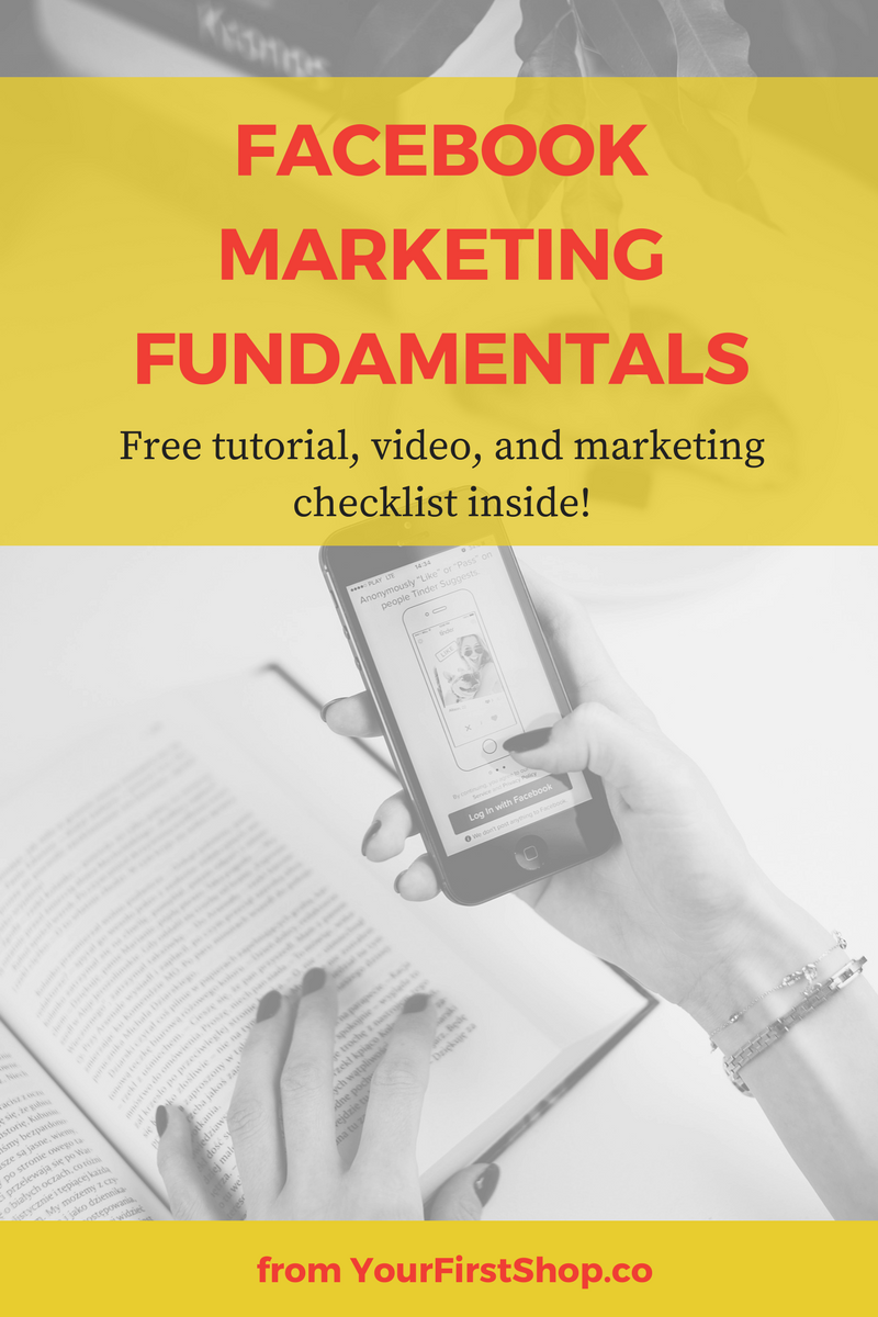 Facebook marketing fundamentals for business owners, bloggers, & entrepreneurs. Includes a free tutorial, step-by-step video, and marketing checklist!