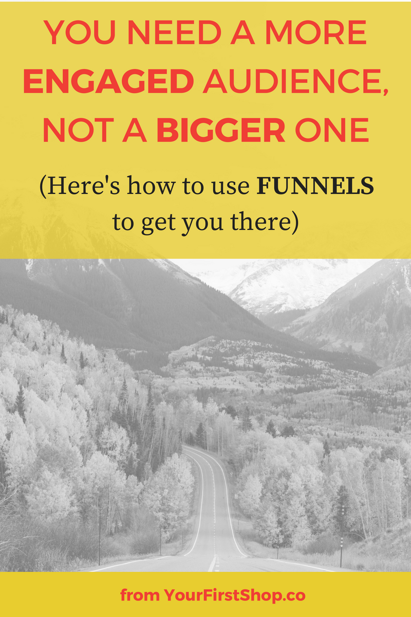 A bigger audience won't automatically lead to more sales. Focus on engaging with your audience and delivering value, and the signups and registrations will follow. Mapping a great sales funnels + intentional customer journey for your audience can help you engage with your audience and get them excited about your offering, on auto-pilot.