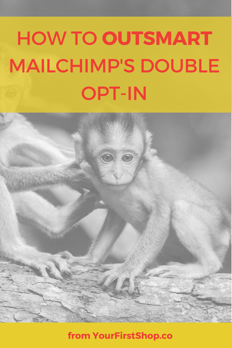 Wondering how to disable Mailchimp's double opt-in? This simple hack shows you how to outsmart the double opt-in so you can increase your email subscribers and grow your list!