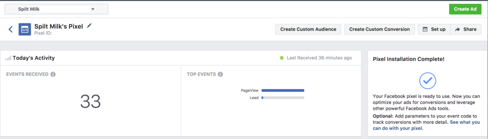 Install the Facebook pixel on your website to track how your ads are performing. This will also give you the ability to retarget people who visit your website later on, using a custom audience.