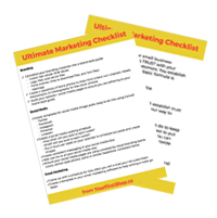 Ultimate Marketing Checklist for Bloggers & Small Business Owners