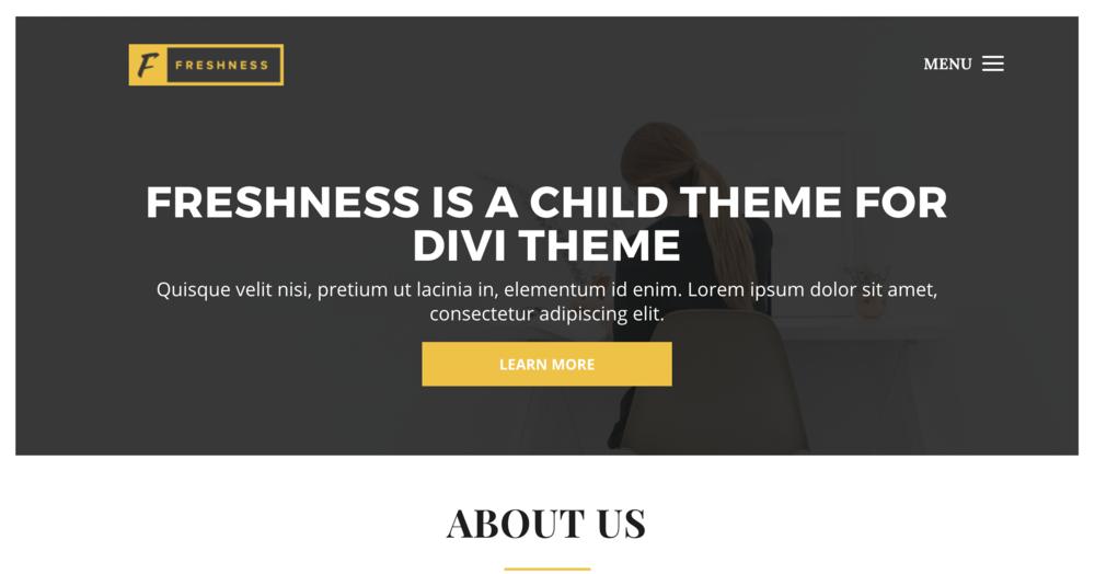 Freshness child theme for Divi WordPress