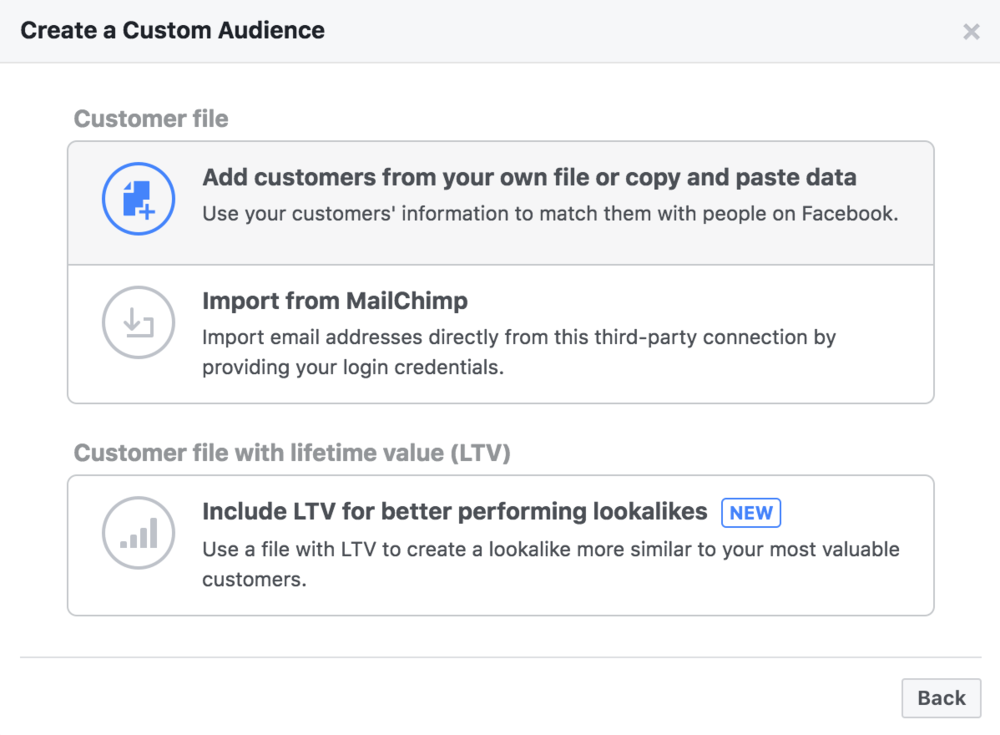 How to create a Facebook custom audience using the Facebook ads manager