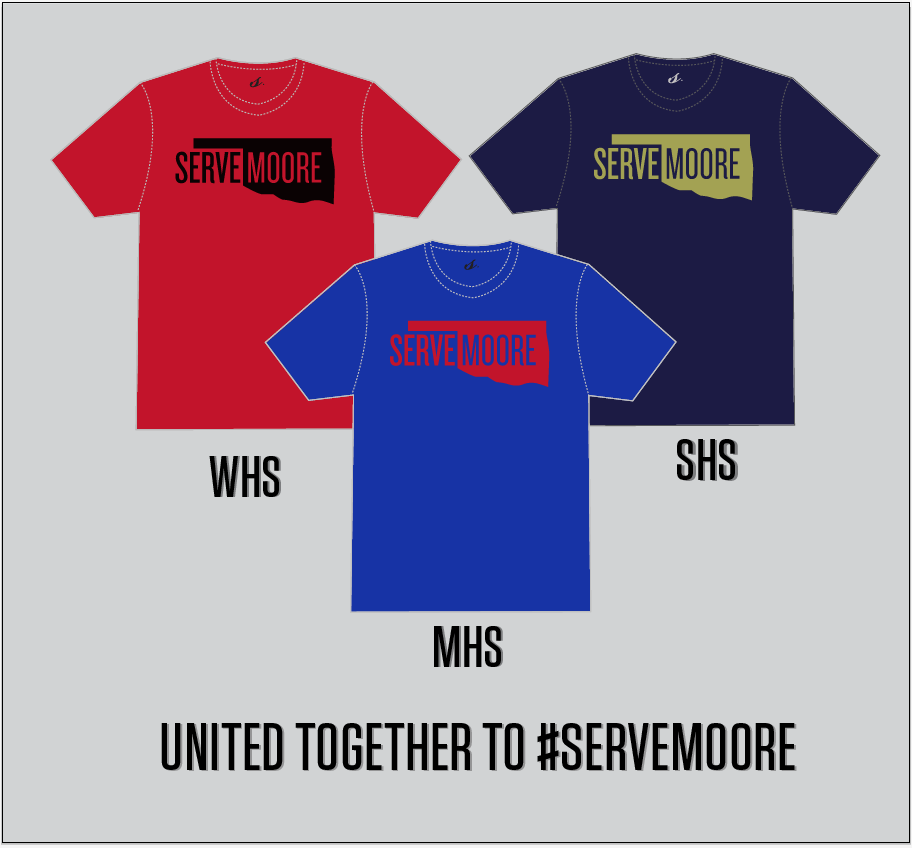 Our new shirt colors inspired by local high schools and volunteers.