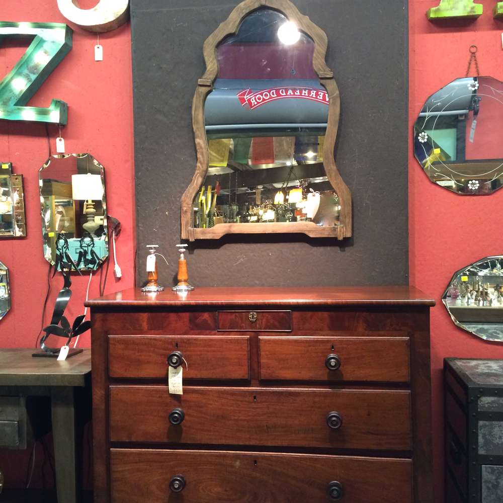 Sometimes you just need a timeless, classic piece like this burled mahogany dresser to ground a room.