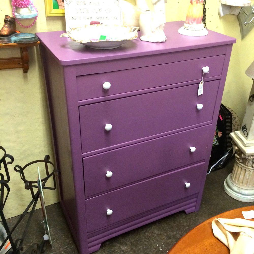 I'd love to put this dresser in a little girl's bedroom [this is just one shade of my most favorite childhood color EVER] and it happens to be the  Pantone Color of the Year . If you feel like being on trend of course...