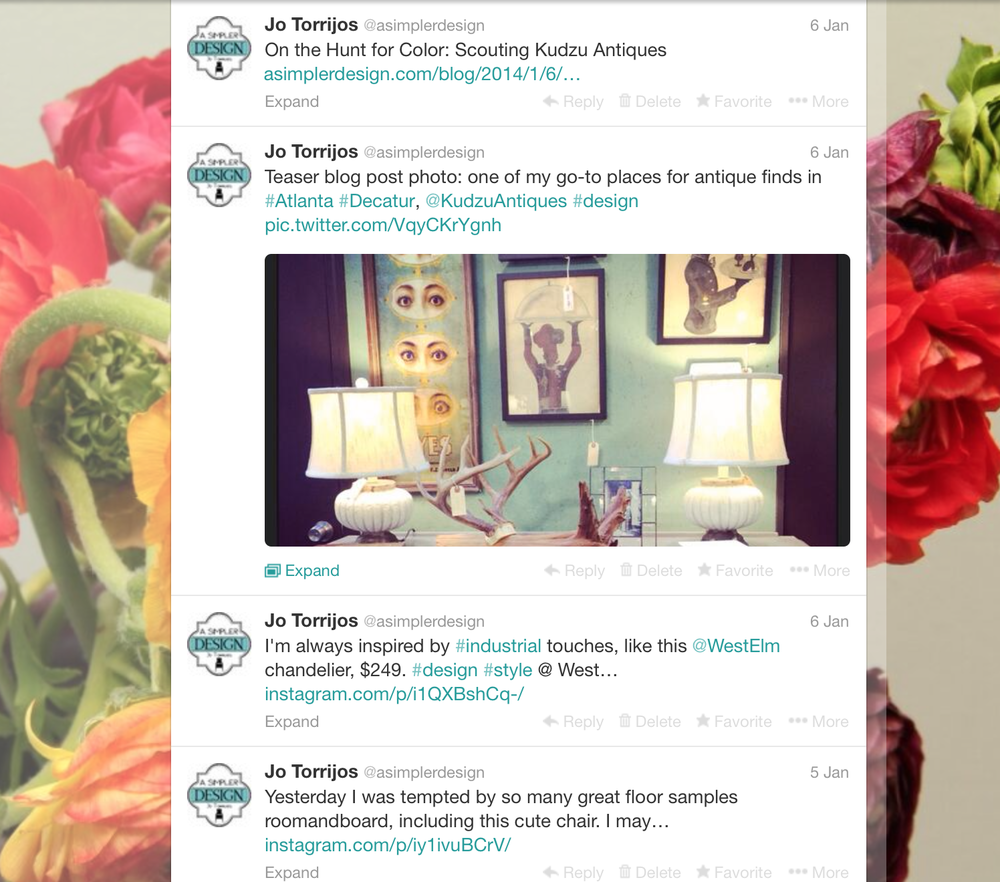 Look at all those tweets! And hashtags! What a #professional I am!