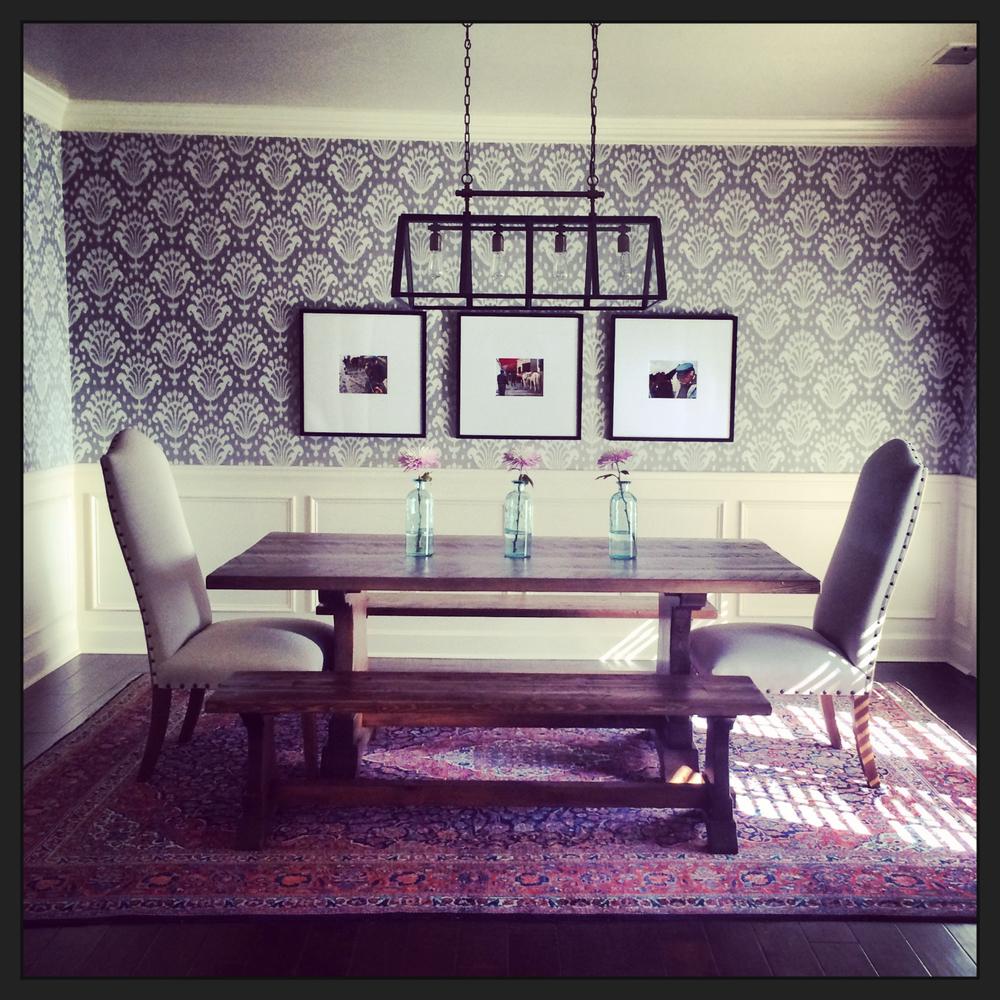 ikat-wallpaper-dining room-asimplerdesign