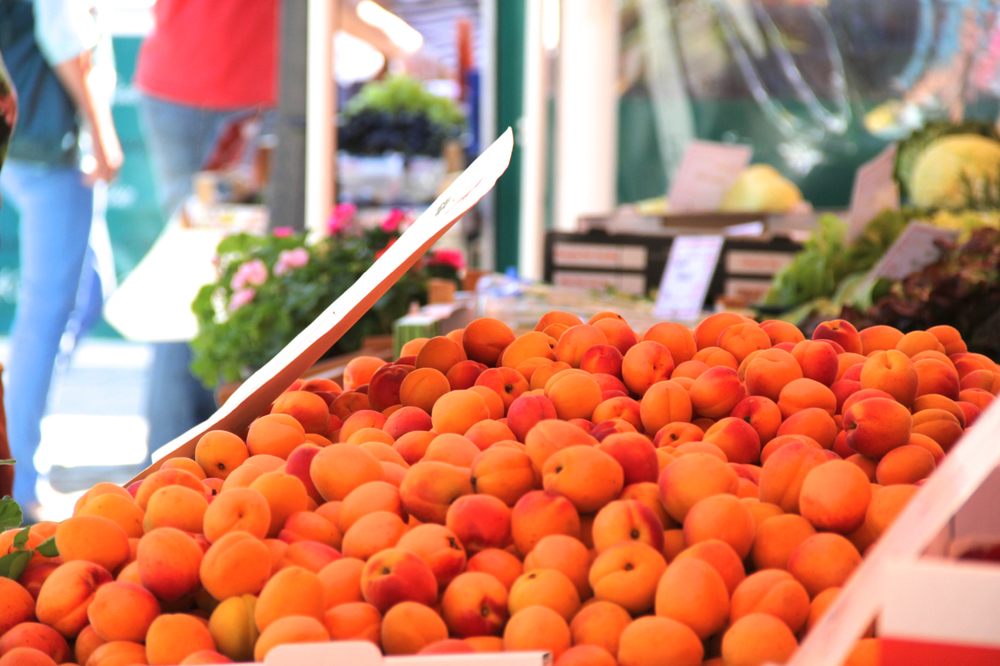 Apricots have the most vibrant color
