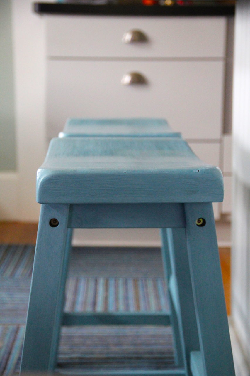counter stools close up